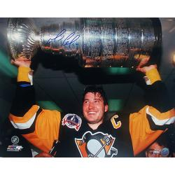 Steiner Sports Mario Lemieux Stanley Cup Overhead Autograph Photo - Thumbnail 0