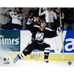 Steiner Sports Martin St. Louis Celebrating Playoff GWG vs Islanders Autograph Photo - Thumbnail 2