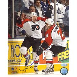 Steiner Sports Jeremy Roenick Flyers Game Winning Goal Celebration Signed Photo
