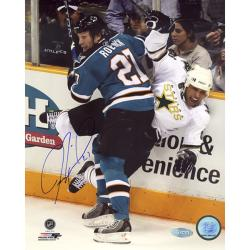 Steiner Sports Jeremy Roenick San Jose Sharks Checking Vertical Signed Photo - Thumbnail 1