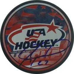 Steiner Sports Jeremy Roenick USA Autograph Puck - Thumbnail 2