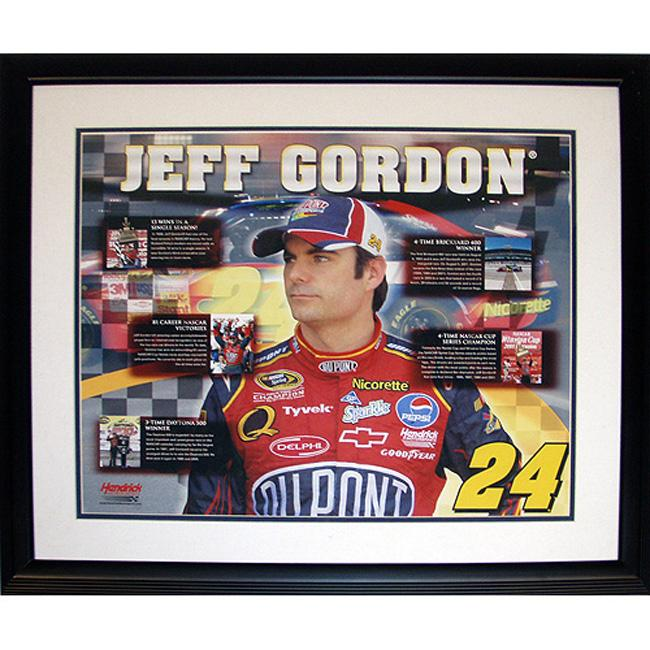 Steiner Sports Jeff Gordon Career Accomplishments Framed Collage