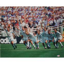 Steiner Sports 1999 USA Women's Soccer Team Celebration Photo