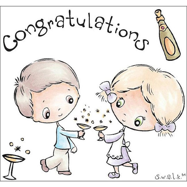 Crafter's Companion S.W.A.L.K. 'Congratulations' Rubber Stamps