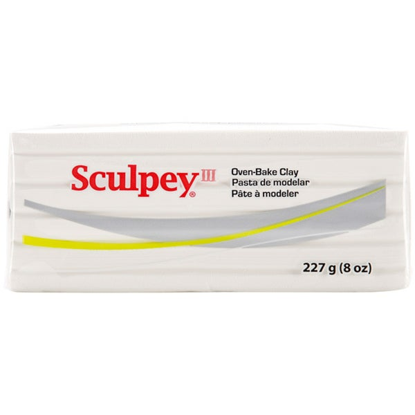 Sculpey III White Polymer Oven-bake Crafting Clay (Eight Ounces)
