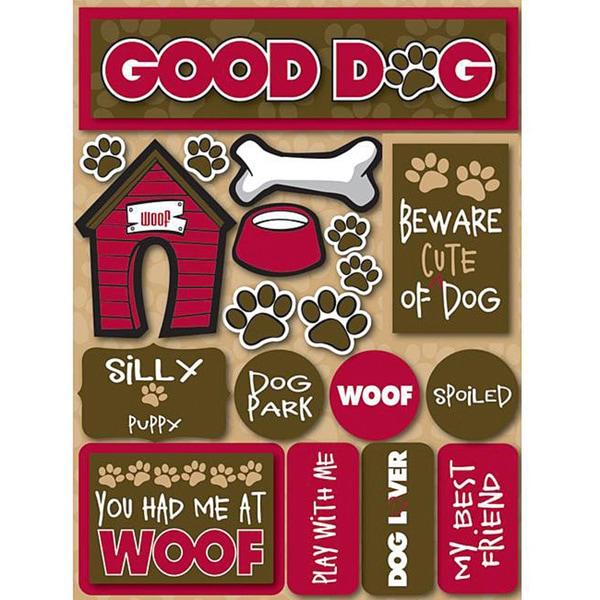Signature Dimensional Dog Stickers