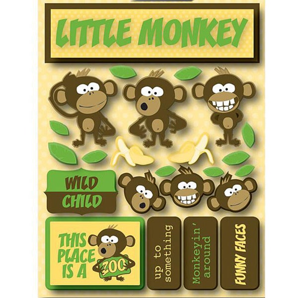 Signature Dimensional Monkey Stickers