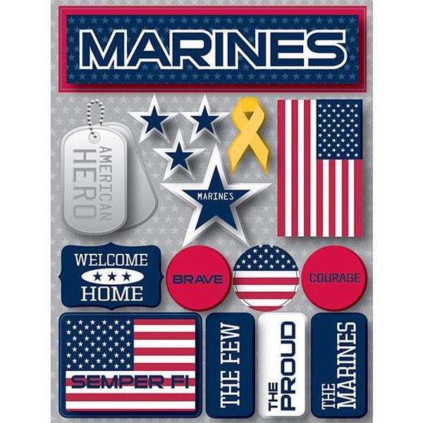 Signature Dimensional Marines Stickers