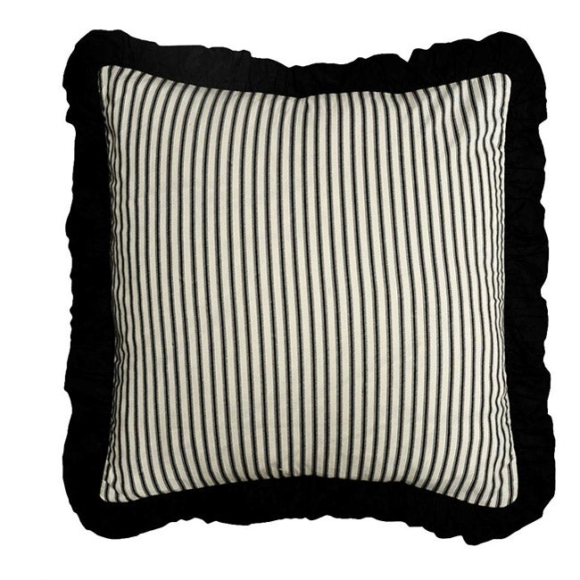 Black Ticking Pillow