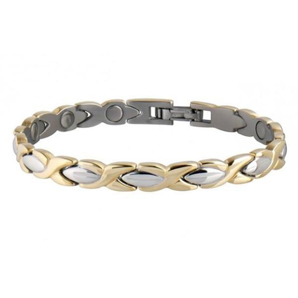 Sabona Lady Executive Dress 18 K Gold Duet Magnetic Bracelet