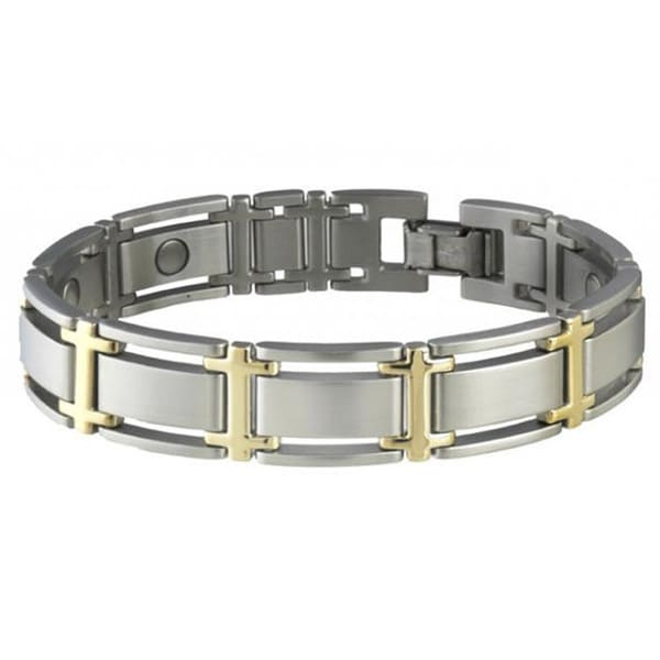 Sabona Executive Symmetry Duet Size M -7.0 Magnetic Bracelet