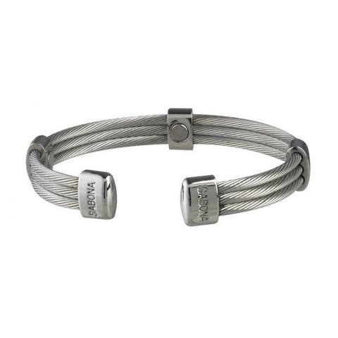 Sabona Trio Cable Stainless Magnetic Bracelet