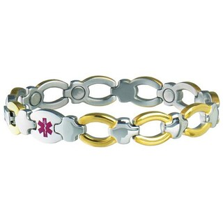 "Sabona Women's Magnetic Bracelet Med ID Bracelet (Diabetic) (Option: Small/Medium (6.75"" wrist))"