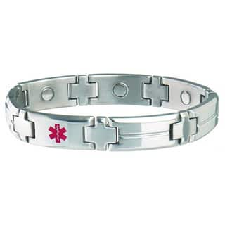Sabona Men's Magnetic Med ID Bracelet (Diabetic) https://ak1.ostkcdn.com/images/products/5749374/P13480111.jpg?impolicy=medium