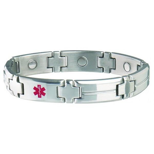 Sabona Men's Magnetic Med ID Bracelet (See Wallet Card)