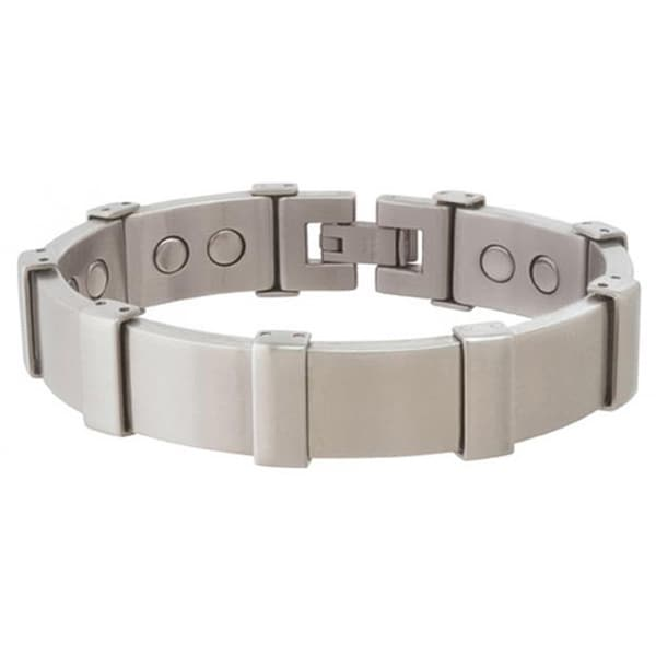 Sabona Executive Brushed Stainless Magnetic Bracelet