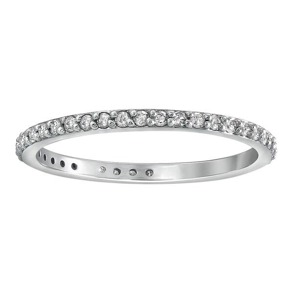 Fine Jewelry Humor 2ct Round Cut Big Diamond Eternity Anniversary Wedding Band 14k White Gold Over