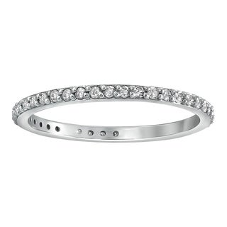 14k White Gold 1/3ct TDW Diamond Eternity Stackable Wedding Band - White H-I (5 options available)