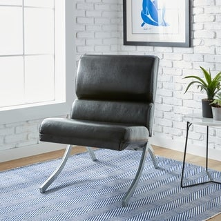 Clay Alder Home Rialto Black Bonded Leather Chair