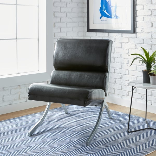 Delicieux Clay Alder Home Rialto Black Bonded Leather Chair