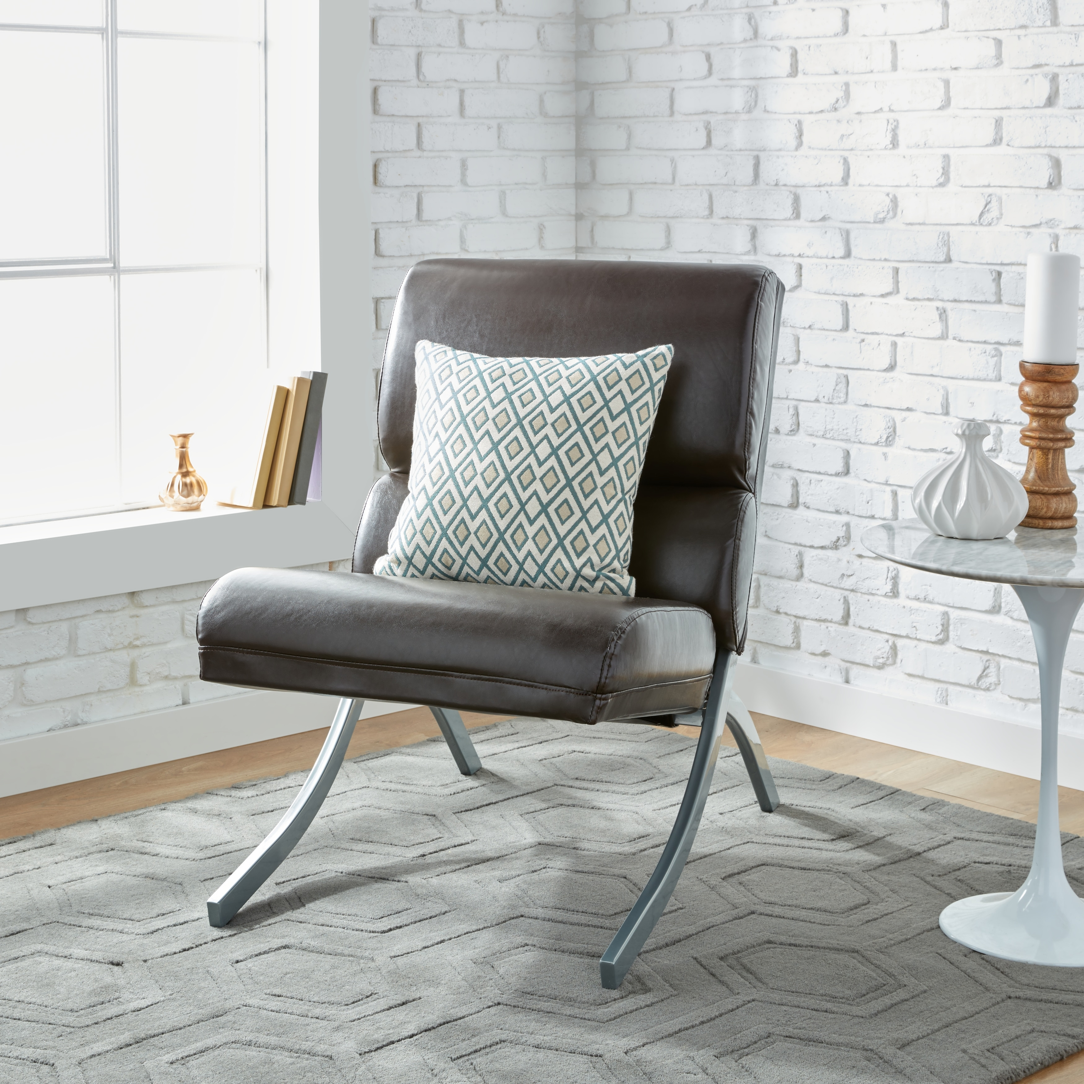 Clay Alder Home Rialto Brown Bonded Leather Chair Ebay