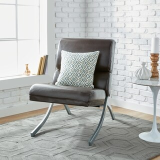 Clay Alder Home Rialto Brown Bonded Leather Chair