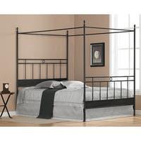 Carbon Loft Cara Black Metal Queen-size Canopy Bed