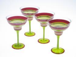 Certified International Hot Tamale Hand-painted Margarita Glasses (Set of 4)