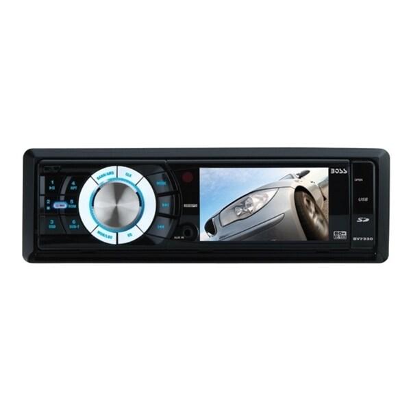 Boss Audio BV7330 Single-DIN 3.2 inch Screen DVD Player Receiver, Det