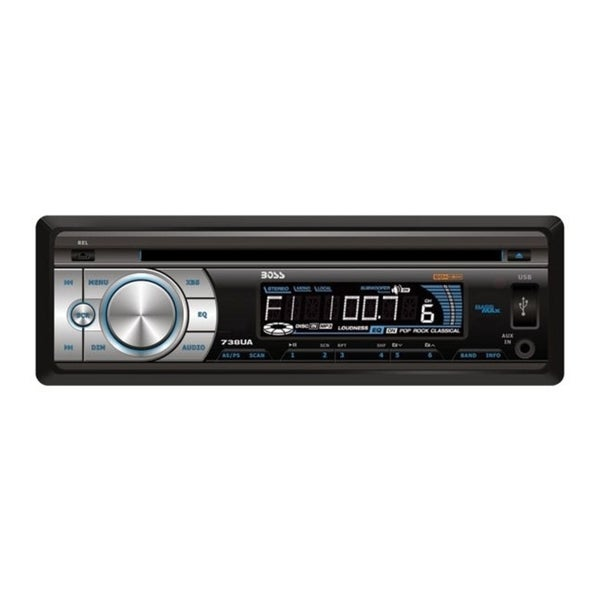 Boss Audio 738UA Car CD/MP3 Player - Single DIN