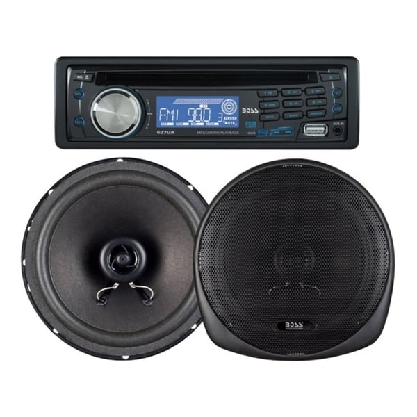 BOSS AUDIO 647CK Package Includes 637UA Single-Din CD AM/FM CD Receiv
