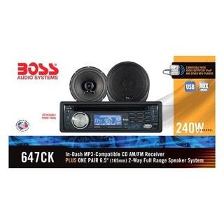 Boss Audio 647CK Package Includes 637UA Single-Din CD AM/FM CD Receiv