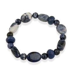 Glitzy Rocks Sodalite Stretch Bracelet