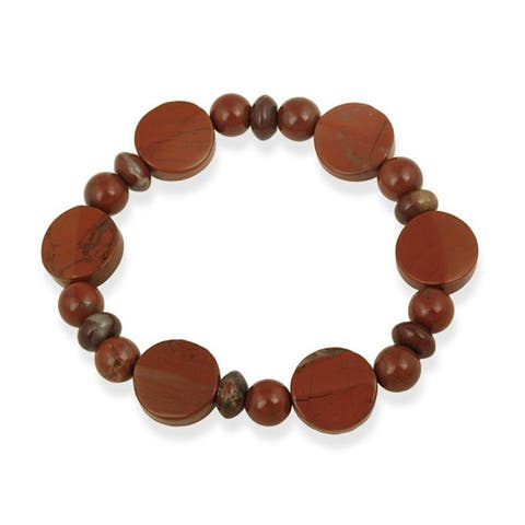 Glitzy Rocks Red Jasper Stretch Bracelet