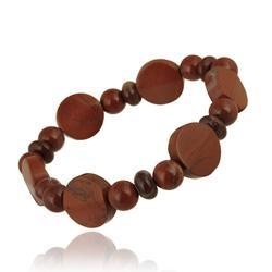 Glitzy Rocks Red Jasper Stretch Bracelet - Thumbnail 1