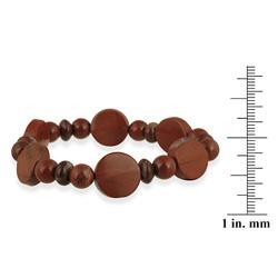 Glitzy Rocks Red Jasper Stretch Bracelet - Thumbnail 2