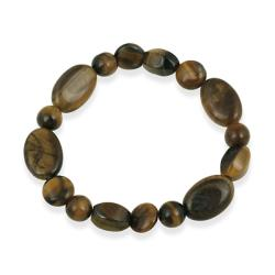 Glitzy Rocks Tiger's Eye Stretch Bracelet