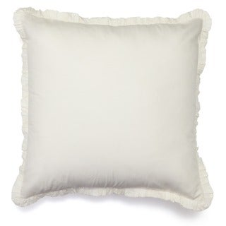 Ruffled Ivory Euro Sham Pillow Cases (Set of 2)