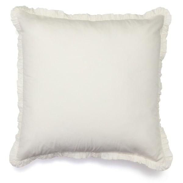 Ruffled Ivory Euro Sham Pillow Cases (Set of 2)
