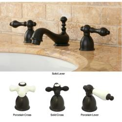 Mini-Widespread Double-Handle Oil-Rubbed-Bronze Bathroom Faucet ...