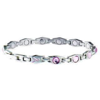 Sabona Lady Executive Pink Ribbon Magnetic Bracelet