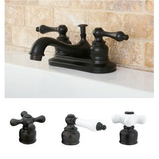 Classic Oil Rubbed Bronze Two-handle Bathroom Faucet (2 options available)