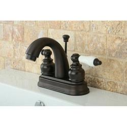 Oil Rubbed Bronze Classic Double-handle Bathroom Faucet - Thumbnail 2