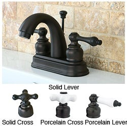 Oil Rubbed Bronze Classic Double-handle Bathroom Faucet