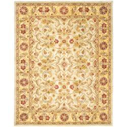 Safavieh Handmade Classic Ivory/ Light Gold Wool Rug (9'6 x 13'6)
