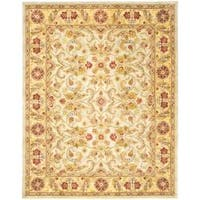 Safavieh Handmade Classic Ivory/ Light Gold Wool Rug - 9'6 x 13'6