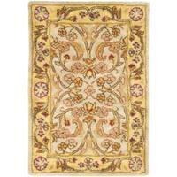 Safavieh Handmade Classic Grey/ Light Gold Wool Rug - 2' x 3'
