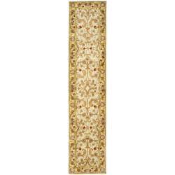 Safavieh Handmade Classic Grey/ Light Gold Wool Runner (2'3 x 12')