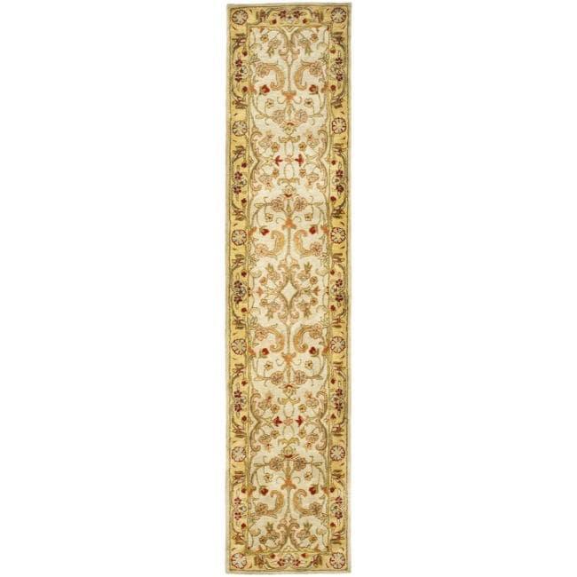 Safavieh Handmade Classic Grey/ Light Gold Wool Runner (2'3 x 8')