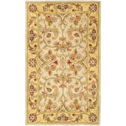 Safavieh Handmade Classic Grey/ Light Gold Wool Rug (3' x 5')